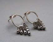 Sterling silver post earrings. Sterling silver studs.  Stud earrings.  Silver earrings - Silver jewellery - Handcrated
