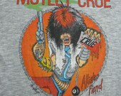 MOTLEY CRUE original vintage 1983 tour TSHIRT