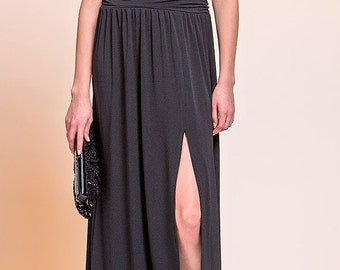 long elegant dress. Black dress. Bridesmaid dress. Evening dress.