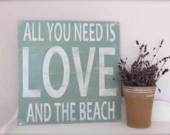 Beach Sign, Wall Art, Custom Wood Sign, Beach Quote, Quote Sign, Subway Art, Beach Art