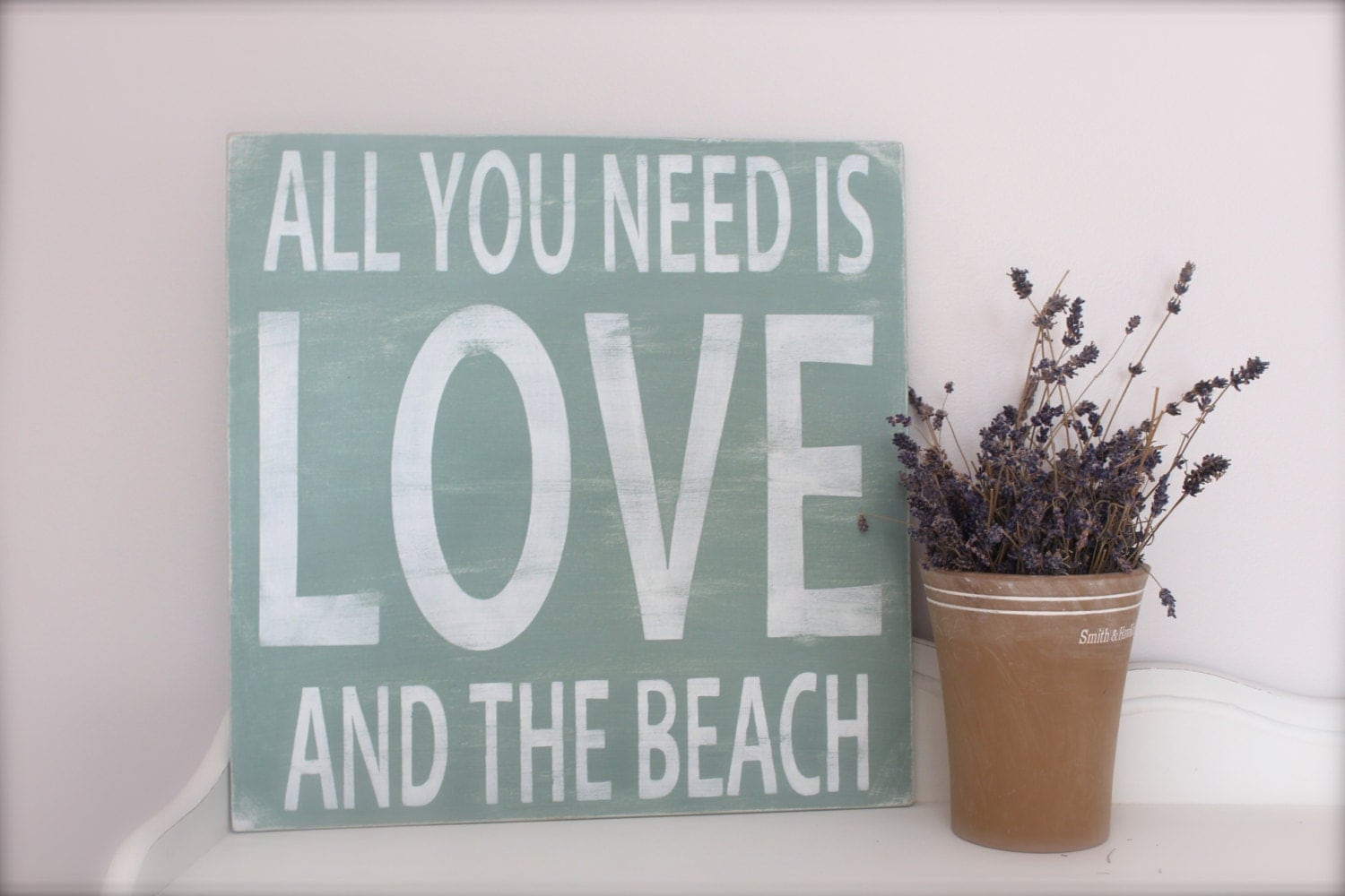 Quotes On Wood Wall Art : Beach sign wall art custom wood quote by