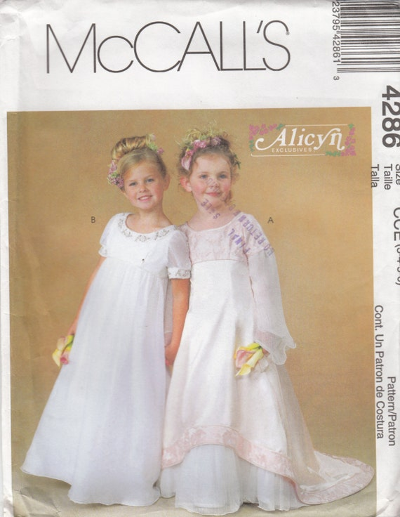 Uncut Sewing Pattern Girl S Formal Dress First Communion