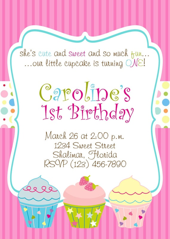 cupcake 5x7 printable party invitation girl by partysoperfect