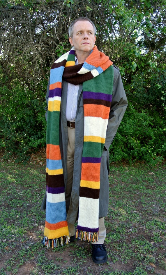 Tom Baker Scarf Knitting Pattern : Doctor Who Scarf Tom Baker Knit 12 long by SimplyCollectible