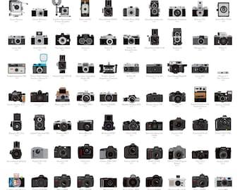 A Visual Compendium of Cameras Poster (18 x 24 Print)