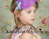 Purple and Blue Vintage Glamour Feather Headband