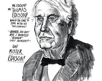 Thomas Edison Great American Inventor Poster Print