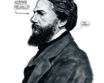 Herman Melville Poster Print - Great Writer Literary Print