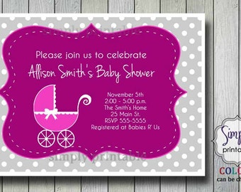 Stroller Baby Shower Invite