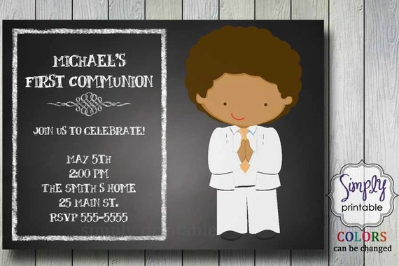 1st Communion Invite for Boy