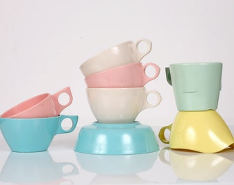 Instant Melmac Collection, Melmac Cups, Creamer, and Bowl by Dallasware, Windsor, and Marcrest