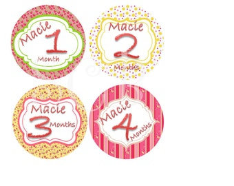 Monthly Removable Stickers...Summer Name