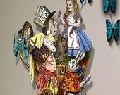 Alice in Wonderland Tea party printable cut outs
