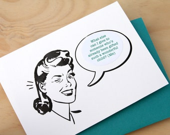 Father's Day Retro Girl Mad Men Funny witty quirky for dad from daughter letterpress card -  choose from a selection of 8 messages sticker