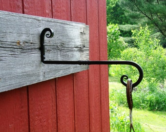 Plant Hanger, Hand Forged Wrought Iron