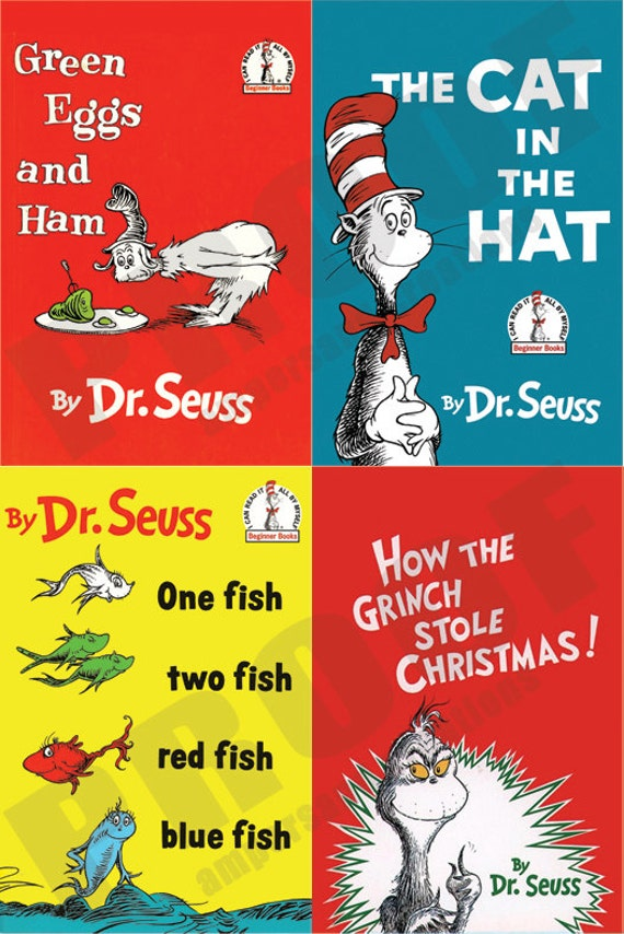 It is a photo of Impeccable Printable Dr Seuss Books