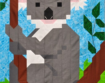 Koala Quilt pattern PDF with 3 sizes