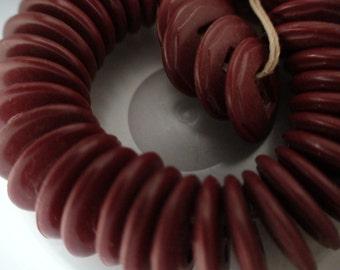 Dark Cherry Red Art Deco Buttons, 3 Dozen(36), Matching Set