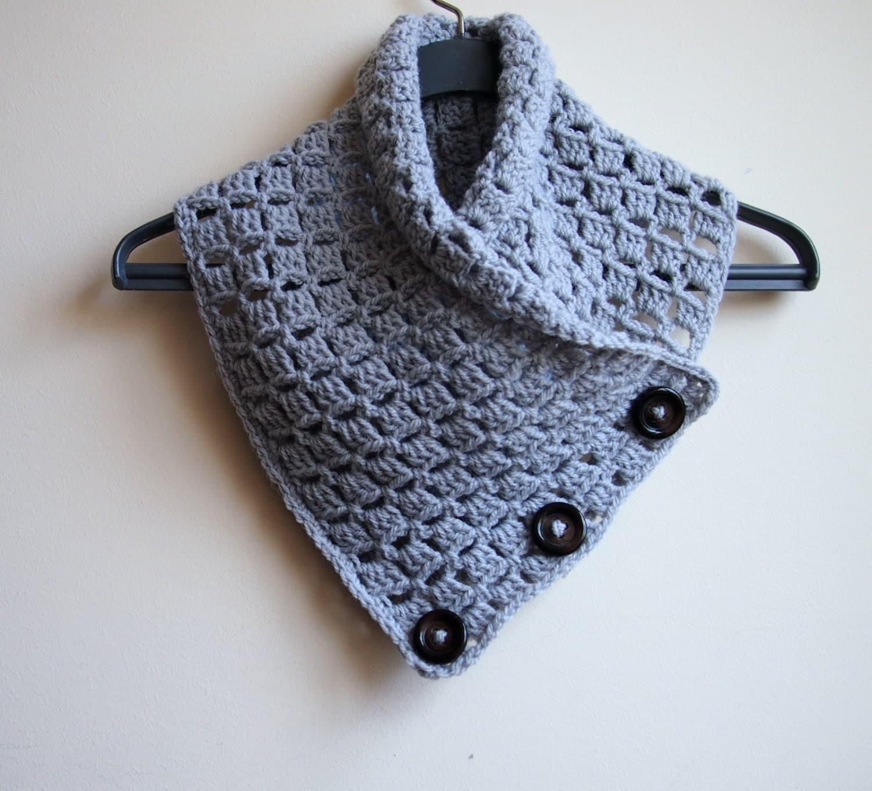 Crochet Patterns Mens Scarf : Crochet PATTERN button cowl man neckwarmer men scarf by AnaDdesign