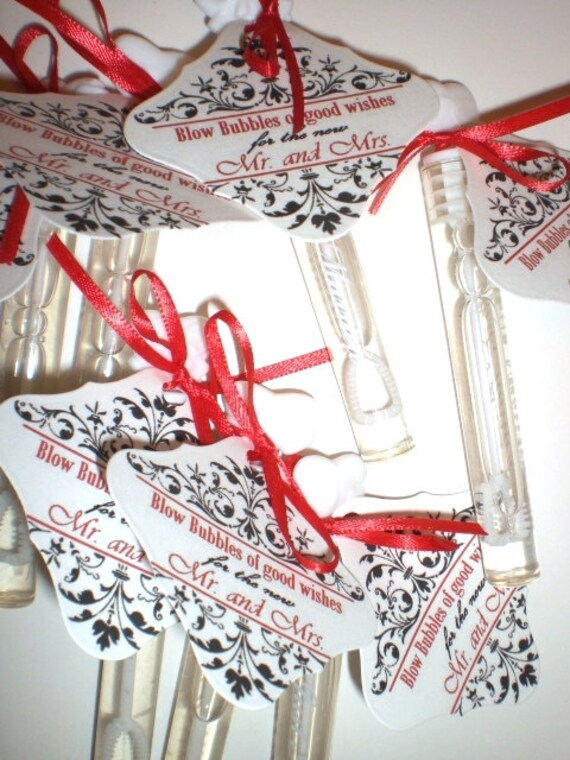 Wedding Bubble Tubes - Customized   Set of 25