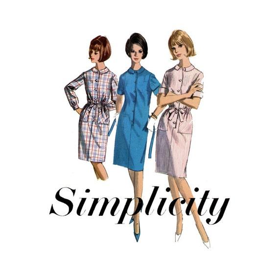 1960s Shift Dress Pattern Simplicity 5878 Bust 38 by ... - photo#17