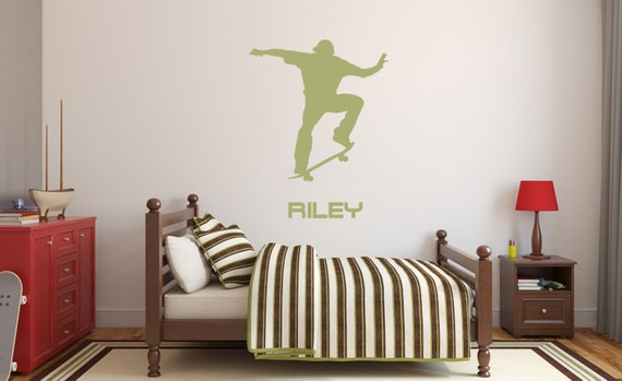 Skateboarder Vinyl Decal Sticker Graphic Personalized Name No. 2