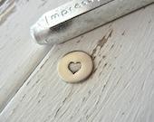 Metal Stamp SALE - Solid Heart by ImpressArt - Design Stamp 6mm - Metal Design Stamp for Hand Stamped Jewelry - Design Punch ImpressArt