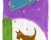 Original Art Card Print - Dog Blessing - Cathy DeLeRee