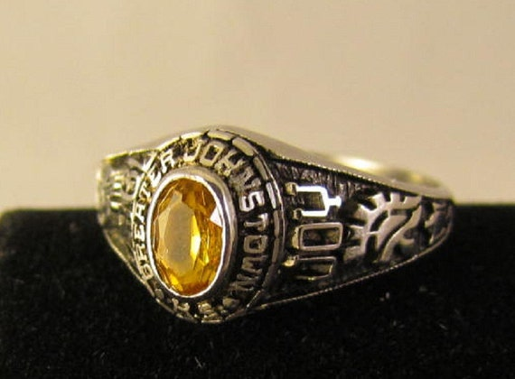 High School Class Ring 1984 Greater Johnstown By Vintagevampjewlz