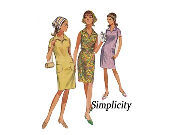 Simplicity 7116 from 1967 sewing pattern Size 10 Miss Jiffy Dress and Scarf Easy cut Easy sew