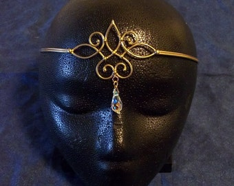 Bronze & Crystal Circlet (point up)