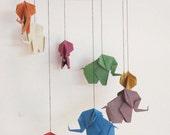 Origami Elephant Mobile, Elephant Mobile, Baby Mobile, Home Decor