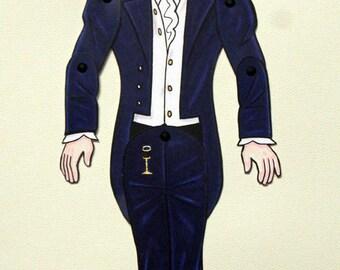 Mr. Darcy Colin Firth Pride and Prejudice Paper Doll - Articulated Jane Austen