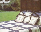 Colonial Quilted Patterns Cross Stitch Quilt and Pillows by Graphique Needle Arts Counted Cross Stitch Vintage Cross Stitch
