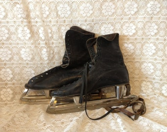 Ice Skates Black Leather Ice Skates