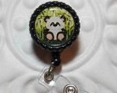 Retractable Badge Holder Bottlecap ID Badge Reel Teacher Lanyard Panda Bear Zoo Animals