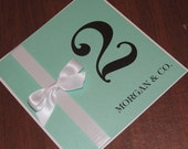 Reserved for Melissa - Aqua / Turquoise Table Numbers