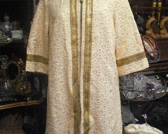Gold Cream Ladies Tunic House Coat