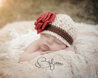 Crochet Pattern for Avery Beanie - 6 sizes, baby to large adult - Welcome to sell finished items