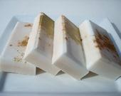 Key Lime Pie Soap for Men -  Key Lime Soap - Dessert Soap - White Soap with Green, Gold Splatter - Homemade Soap - Bar Soap