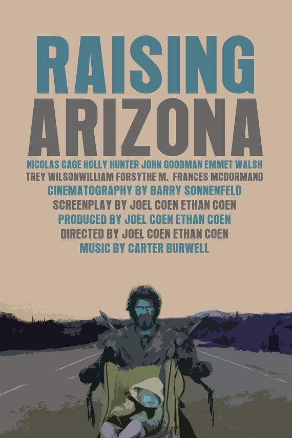 Coen Bros Movie Poster Set: Raising Arizona / A by ... Raising Arizona Full Movie