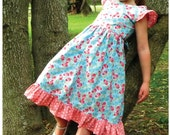 Lily Bird Studio PDF sewing pattern Camille's dress -  12 mths to 10 yrs - intermediate sewers, invisible zipper or buttons