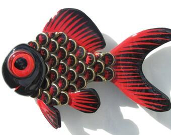Goldfish Metal Bottle Cap Fish Wall Art Budweiser Select Bottlecaps