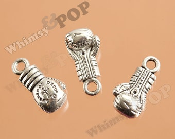 Tibetan Silver Boxing Glove Charm, Boxing Pendant, MMA Pendant, FIghting Charms, 22mm x 11mm (R9-131)