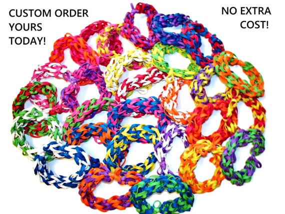 Rubber Wedding Band >> Items similar to Lot of 10 Rubber Band Bracelets - Assorted Colors - Birthday Party Favors ...