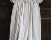 Antique English Baby Baptism Christening Baby Gown Dress White Eyelet Embroidery