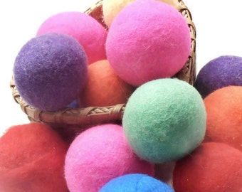 Wool Dryer Balls - Felted Wool Dryer Balls -  Jumbo Wool Dryer Balls - Eco Friendly Wool Dryer Balls - Set of 4 - Scent or Unscented