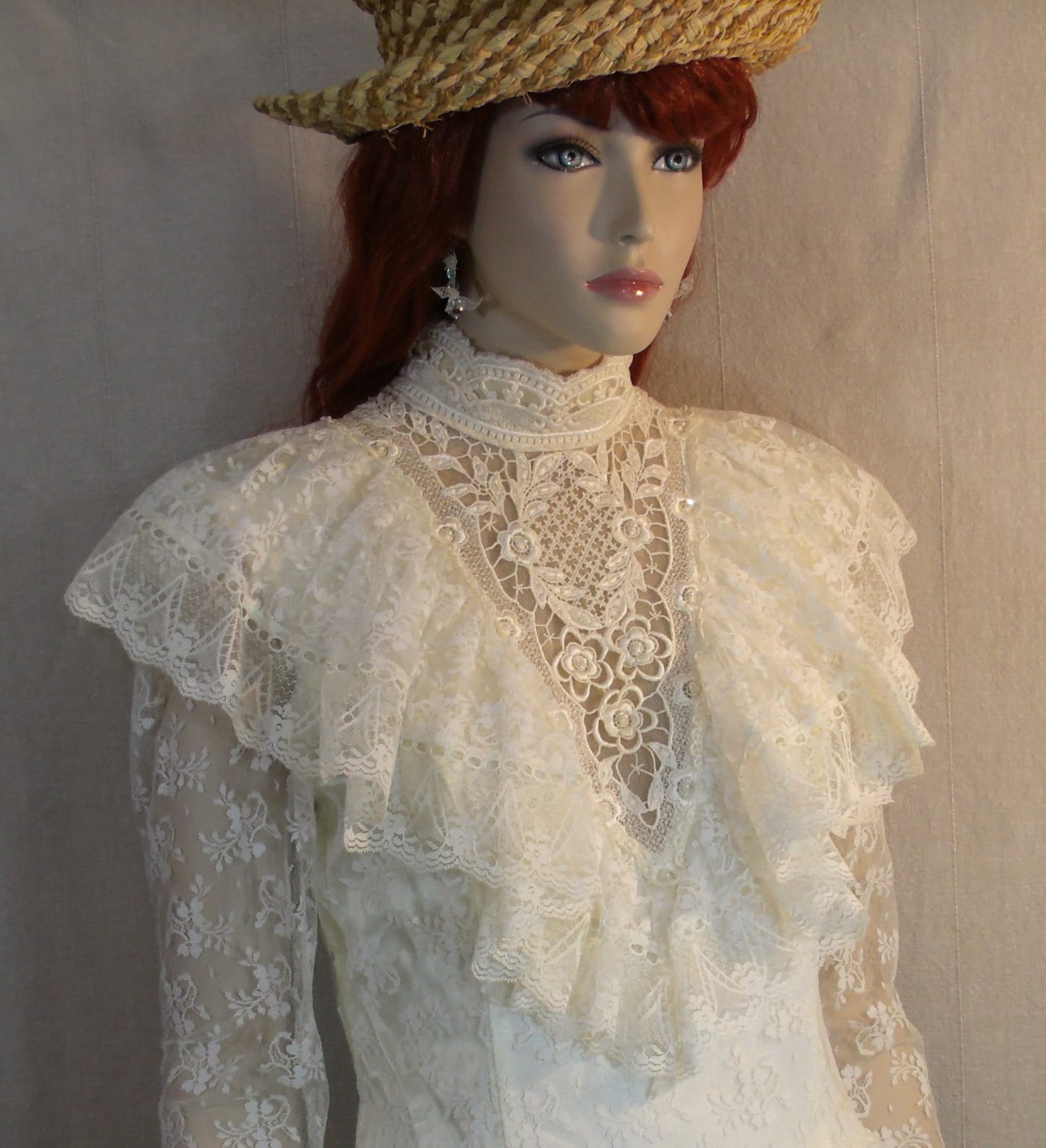 HOLD 20% OFF SALE Victorian Style Wedding Dress
