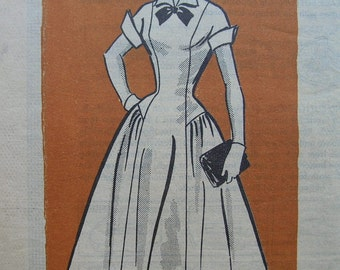 Fabulous Vintage 50's Junior Miss ROCKABILLY DRESS PATTERN Factory Folded