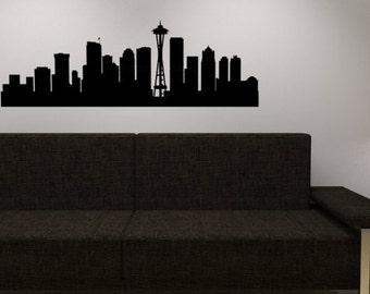 Seattle Skyline wall decal  - Vinyl wall sticker decal - Seattle wall vinyl
